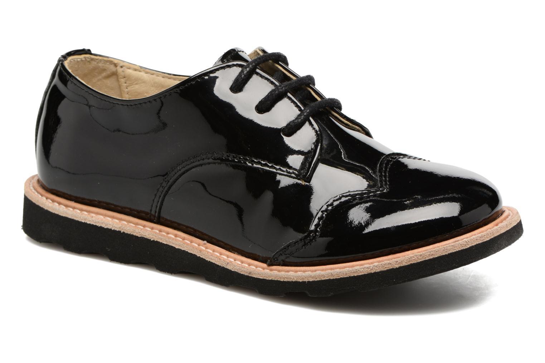 Chaussures à lacets Young Soles Olive Noir vue détail/paire