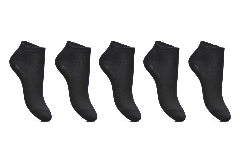 Chaussettes Courtes Solid Unies Lot de 5 3000 Black