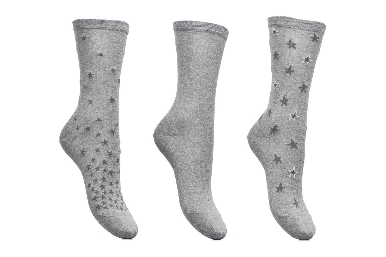 Chaussettes et collants Esprit Chaussettes Star Special Lot de 3 Gris vue détail/paire