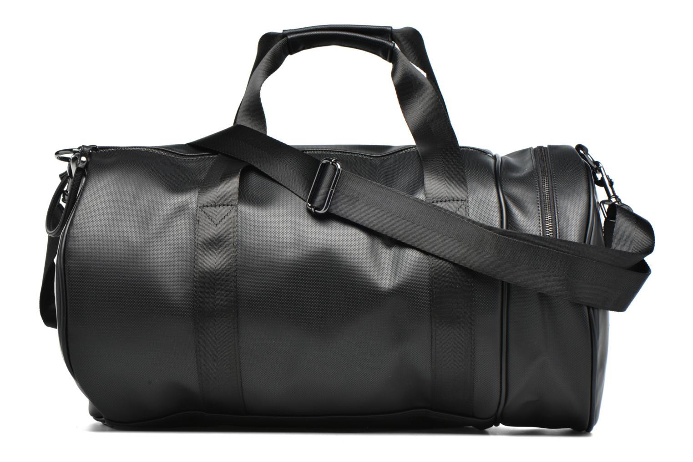 Sacs de sport Fred Perry Piqué Texture Barrel Bag Noir vue face