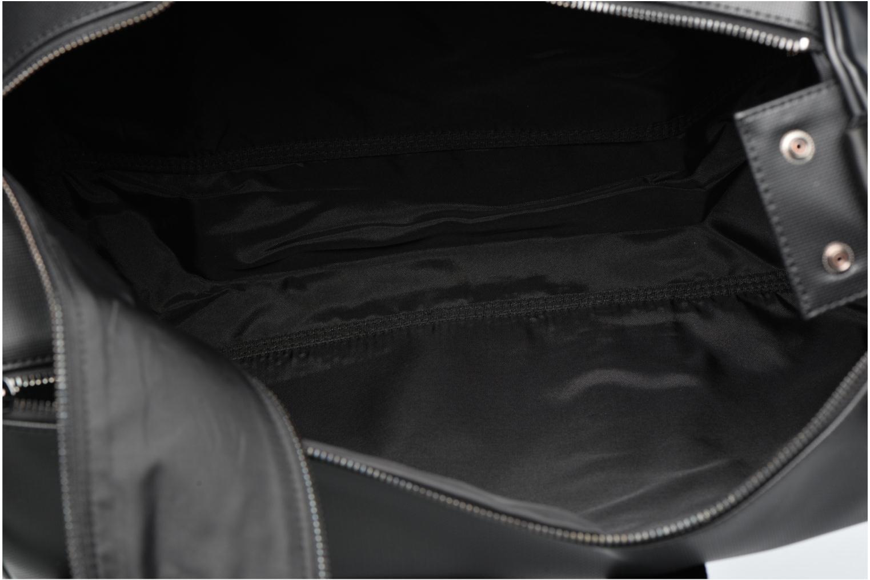 Sacs de sport Fred Perry Piqué Texture Barrel Bag Noir vue derrière
