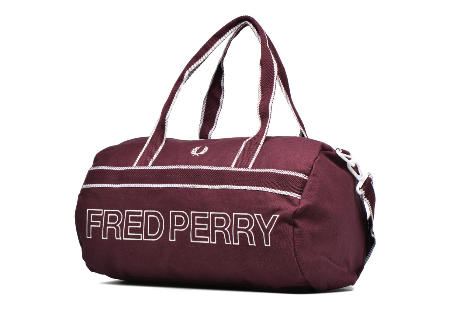 Sporttassen Fred Perry Sport Canvas Barrel Bag Rood model