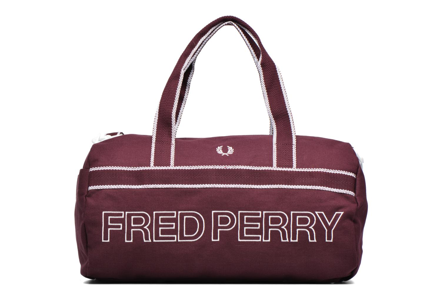 Sporttassen Fred Perry Sport Canvas Barrel Bag Rood detail