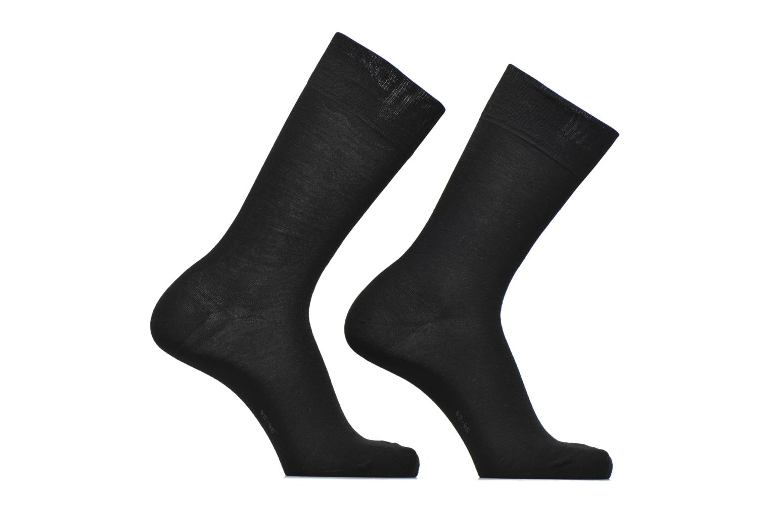 Chaussettes Basic Wool Lot de 2 3000 Black