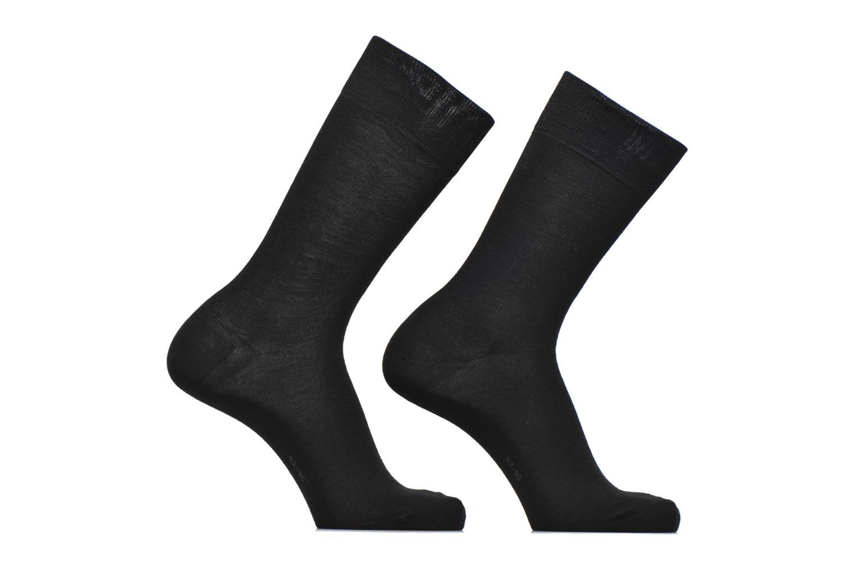 Chaussettes Basic Wool Lot de 2 3000 Black
