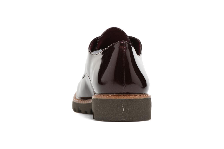 Zapatos con cordones Tamaris Yndris Vino vista lateral derecha