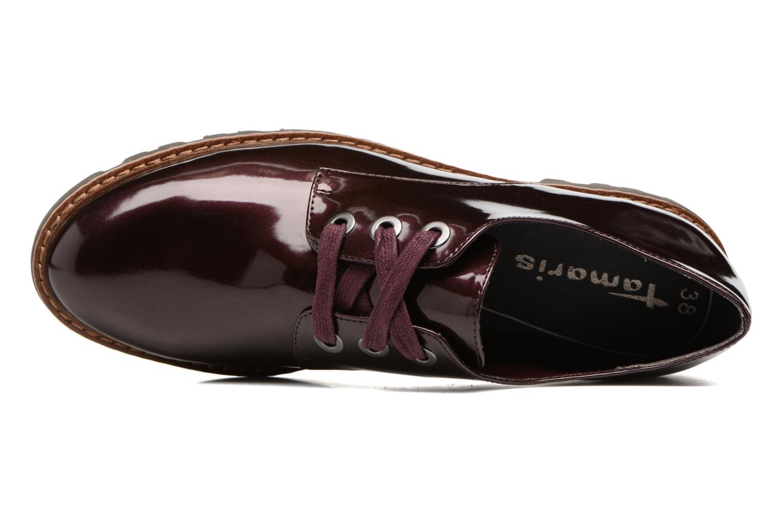 Zapatos con cordones Tamaris Yndris Vino vista lateral izquierda