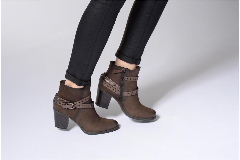 Bottines et boots Tamaris Adenael Noir vue bas / vue portée sac