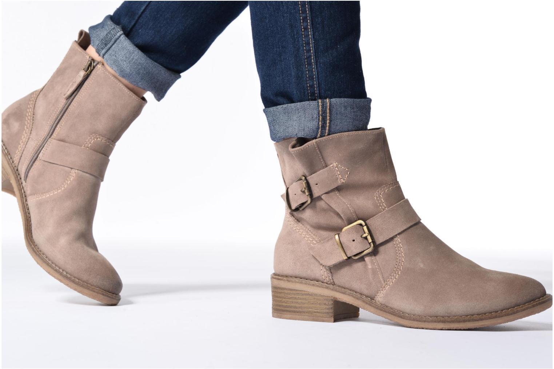 Bottines et boots Tamaris Balani Beige vue bas / vue portée sac
