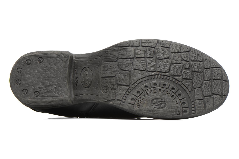 Bottines et boots Dockers Vika Noir vue haut