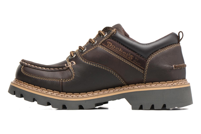 Chaussures à lacets Dockers Fritz Marron vue face
