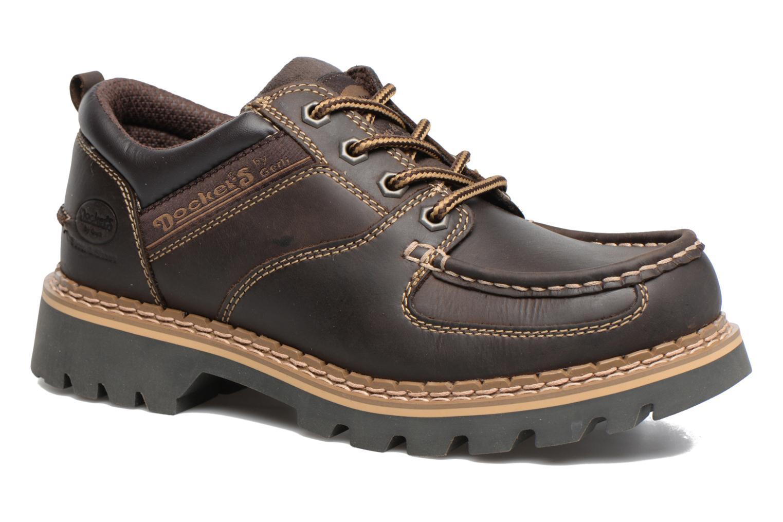Chaussures à lacets Dockers Fritz Marron vue détail/paire