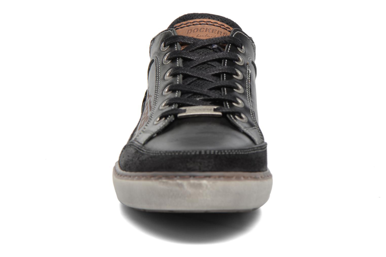 Baskets Dockers Jan Noir vue portées chaussures