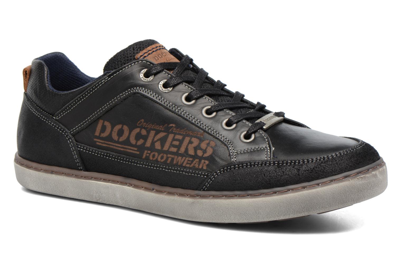 Baskets Dockers Jan Noir vue détail/paire