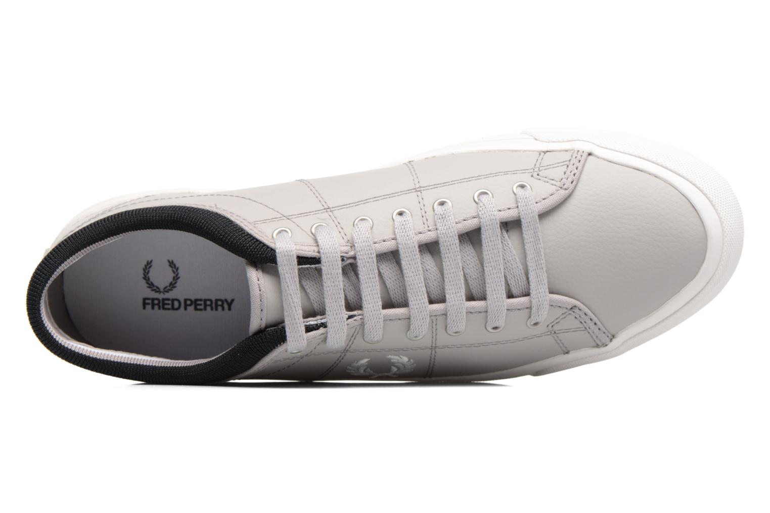 Baskets Fred Perry Kendrick Reversed Tipped Cuff Leather Gris vue gauche