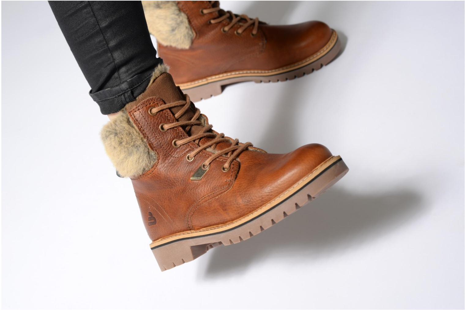 Ankle boots Bullboxer Hilis Brown view from underneath / model view