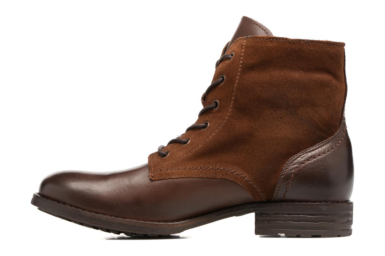 Bottines et boots Pieces Andara Marron vue face