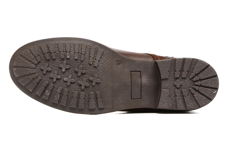 Bottines et boots Pieces Andara Marron vue haut