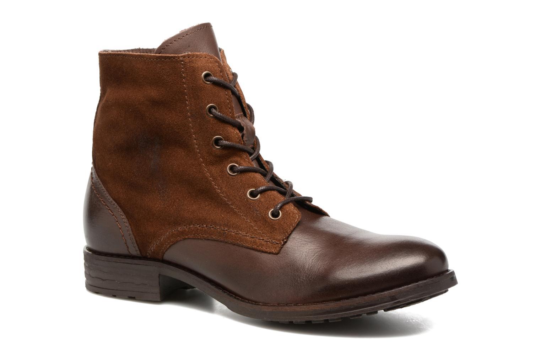 Bottines et boots Pieces Andara Marron vue détail/paire