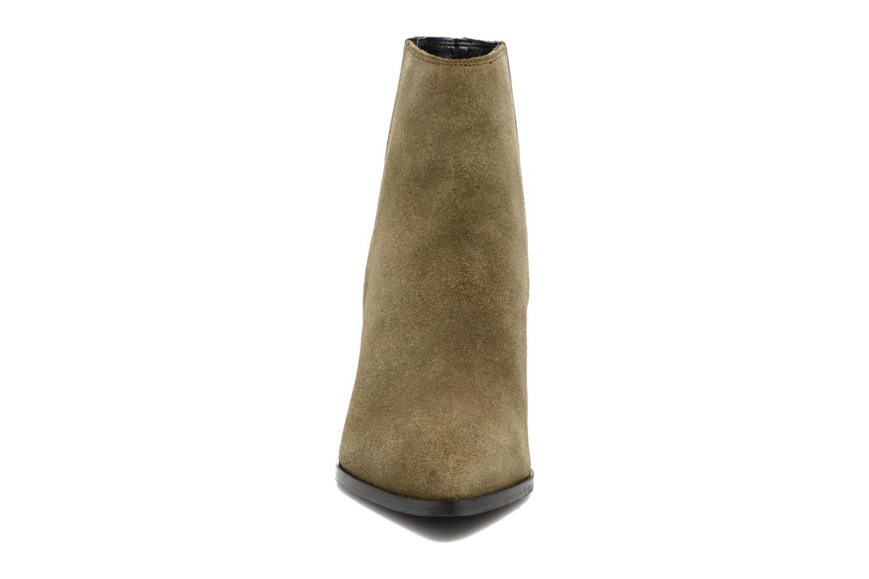 Bottines et boots Pieces Padgytt Vert vue portées chaussures