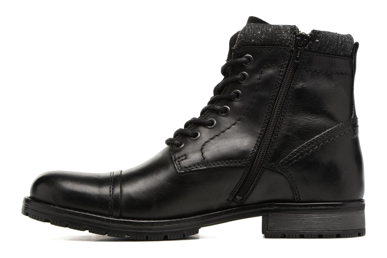 Bottines et boots Jack & Jones JFWMARLY LEATHER Noir vue face