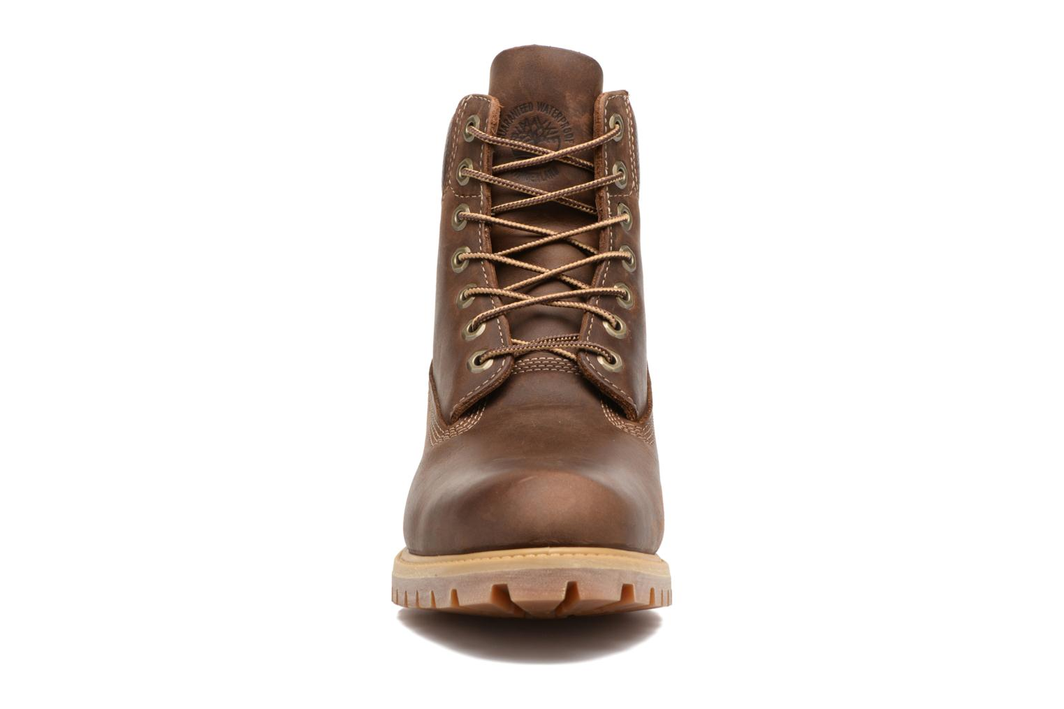"Heritage 6"" Premium Brown Burnished Full Grain"
