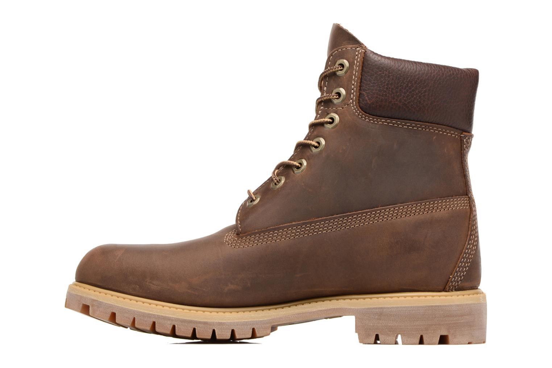 "Bottines et boots Timberland Heritage 6"" Premium Marron vue face"