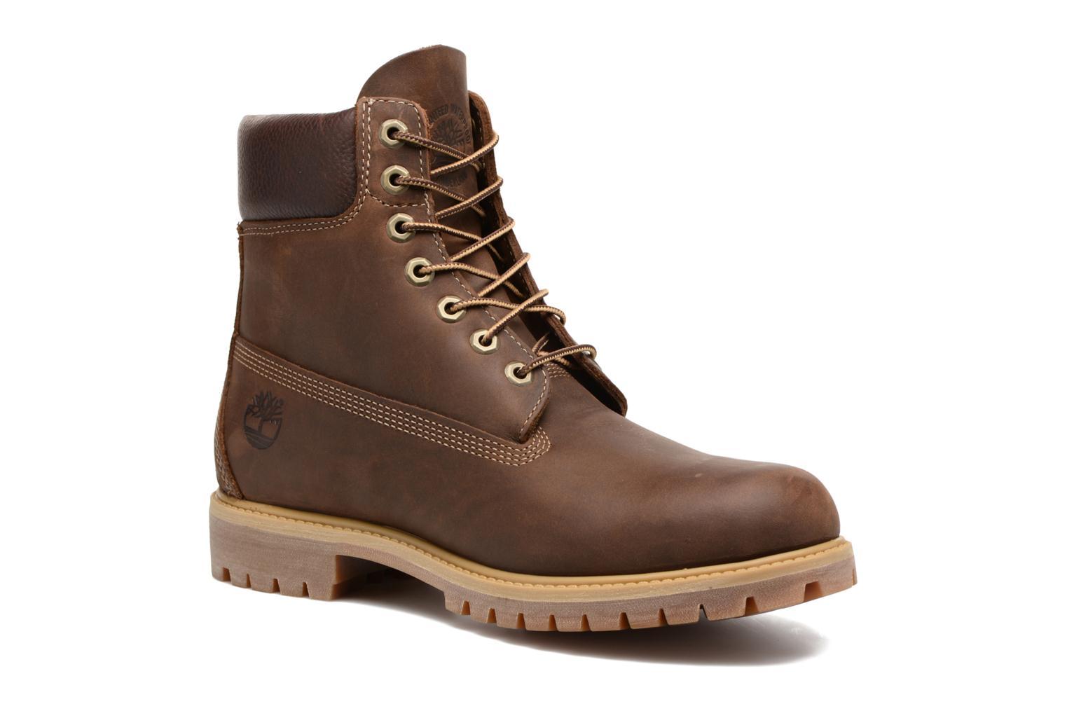 """Bottines et boots Timberland Heritage 6"""" Premium Marron vue détail/paire"""