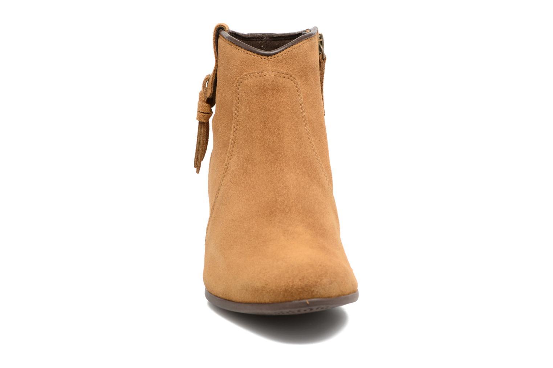 Carleton Tassle Boot Trapper Tan Suede