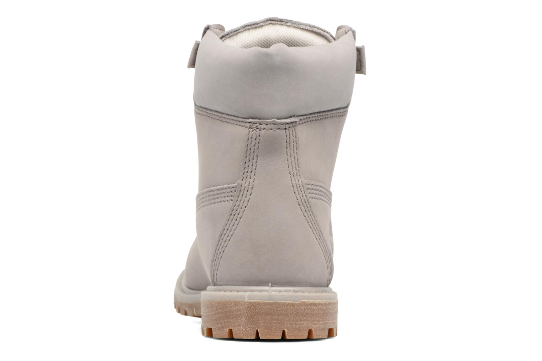 Botines  Timberland 6in Premium Boot - W Gris vista lateral derecha