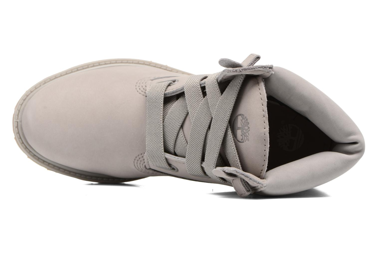 Botines  Timberland 6in Premium Boot - W Gris vista lateral izquierda