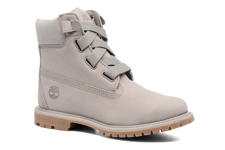 Botines  Timberland 6in Premium Boot - W Gris vista de detalle / par
