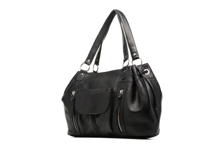 Sacs à main Pieces Jihano Leather Bag Noir vue portées chaussures