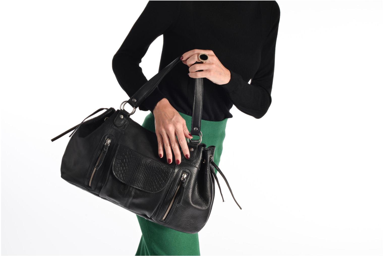 Sacs à main Pieces Jihano Leather Bag Noir vue haut