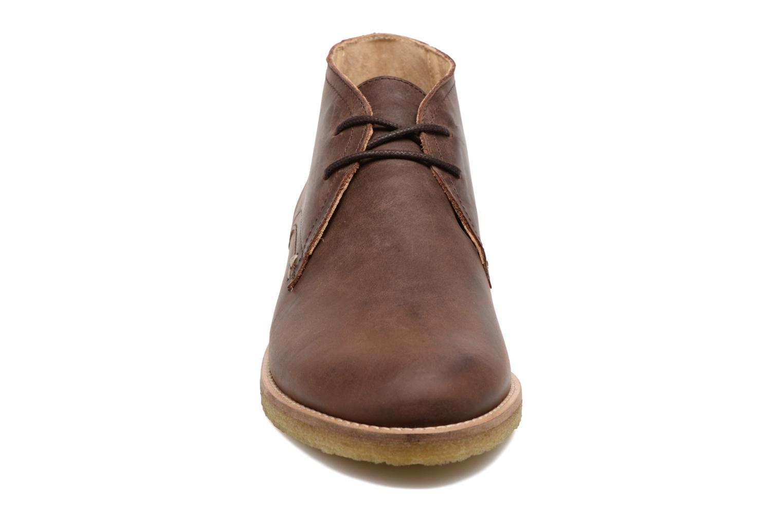 Chaussures à lacets M. Moustache Alain Marron vue portées chaussures