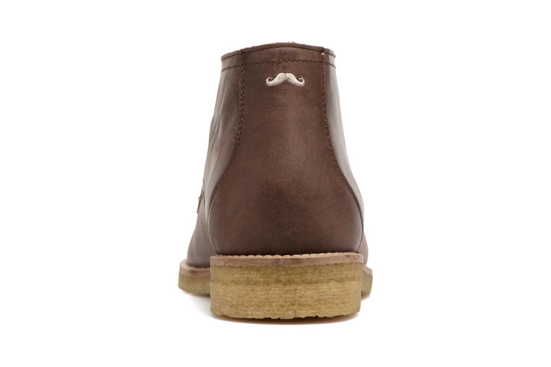 Chaussures à lacets M. Moustache Alain Marron vue droite
