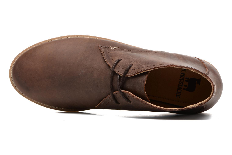 Chaussures à lacets M. Moustache Alain Marron vue gauche