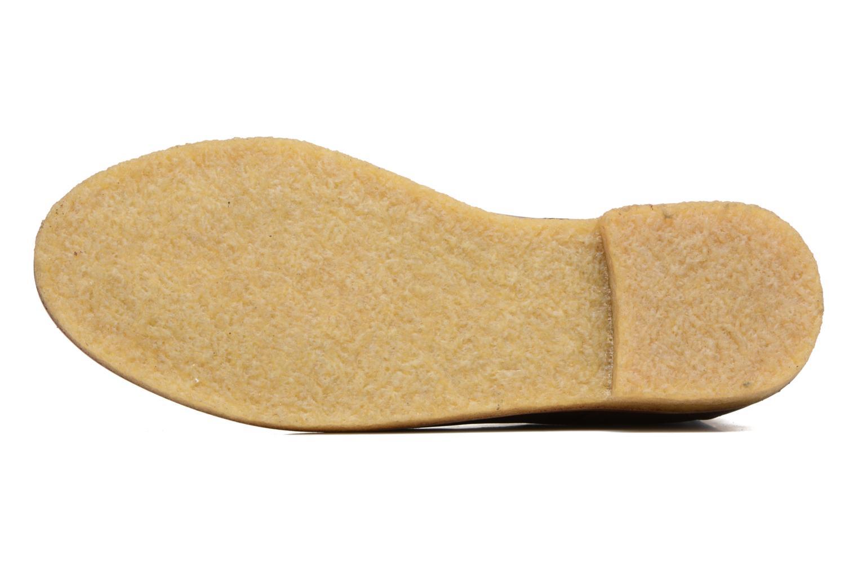 Chaussures à lacets M. Moustache Alain Marron vue haut