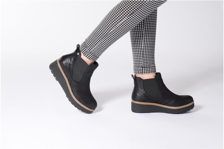 Bottines et boots Les P'tites Bombes Carine Noir vue bas / vue portée sac