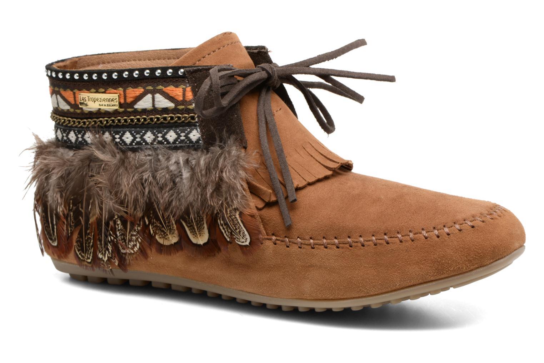 Bottines et boots Les Tropéziennes par M Belarbi Tomawok Marron vue détail/paire