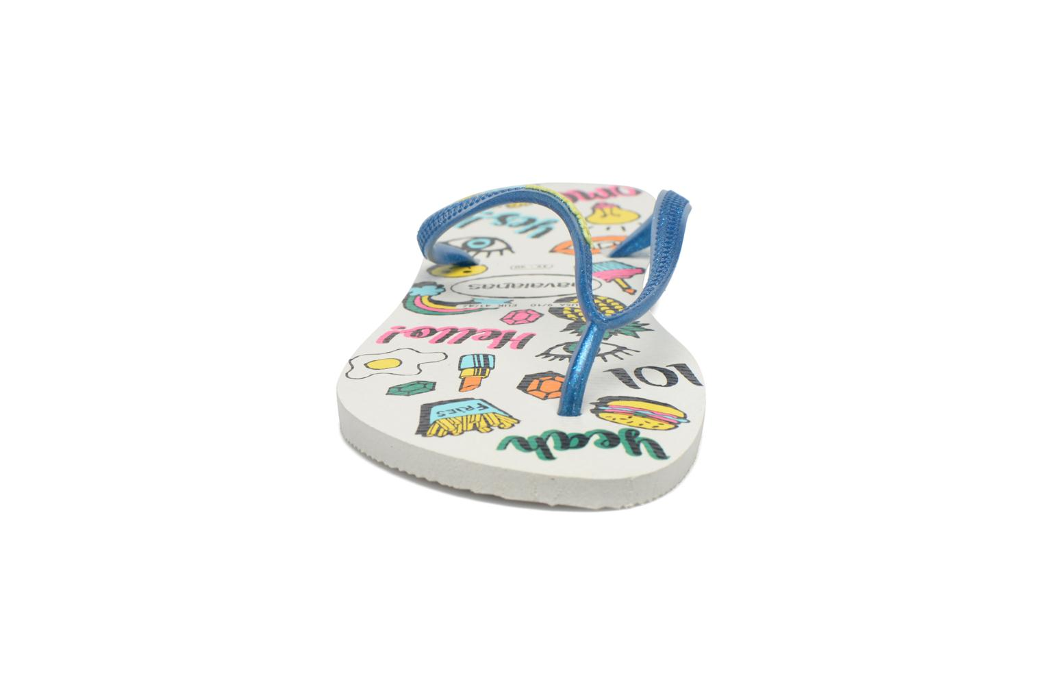 Flip flops Havaianas HAV. SLIM COOL Multicolor model view