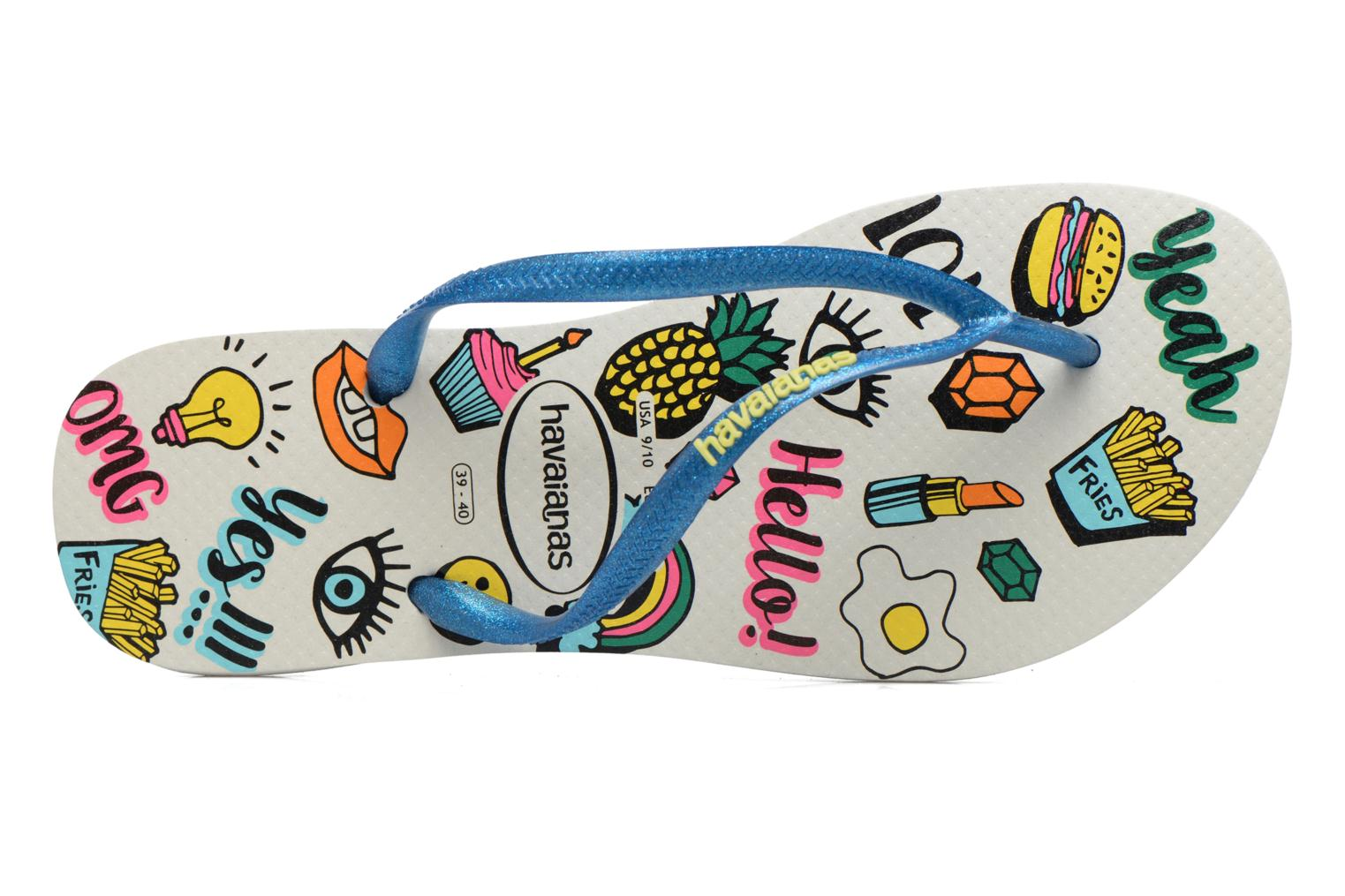 Flip flops Havaianas HAV. SLIM COOL Multicolor view from the left