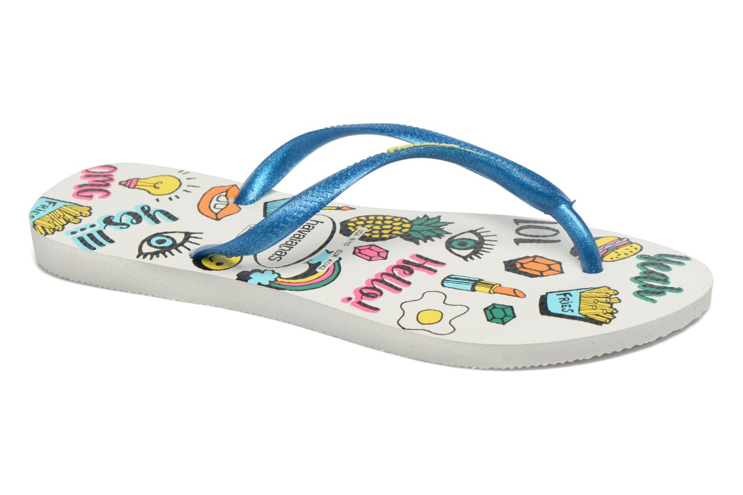 Flip flops Havaianas HAV. SLIM COOL Multicolor detailed view/ Pair view