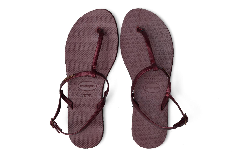 Sandals Havaianas You Riviera Burgundy 3/4 view