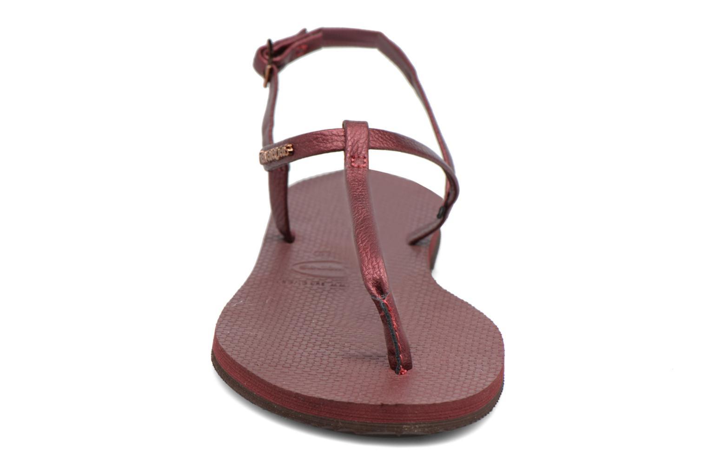 Sandales et nu-pieds Havaianas You Riviera Bordeaux vue portées chaussures