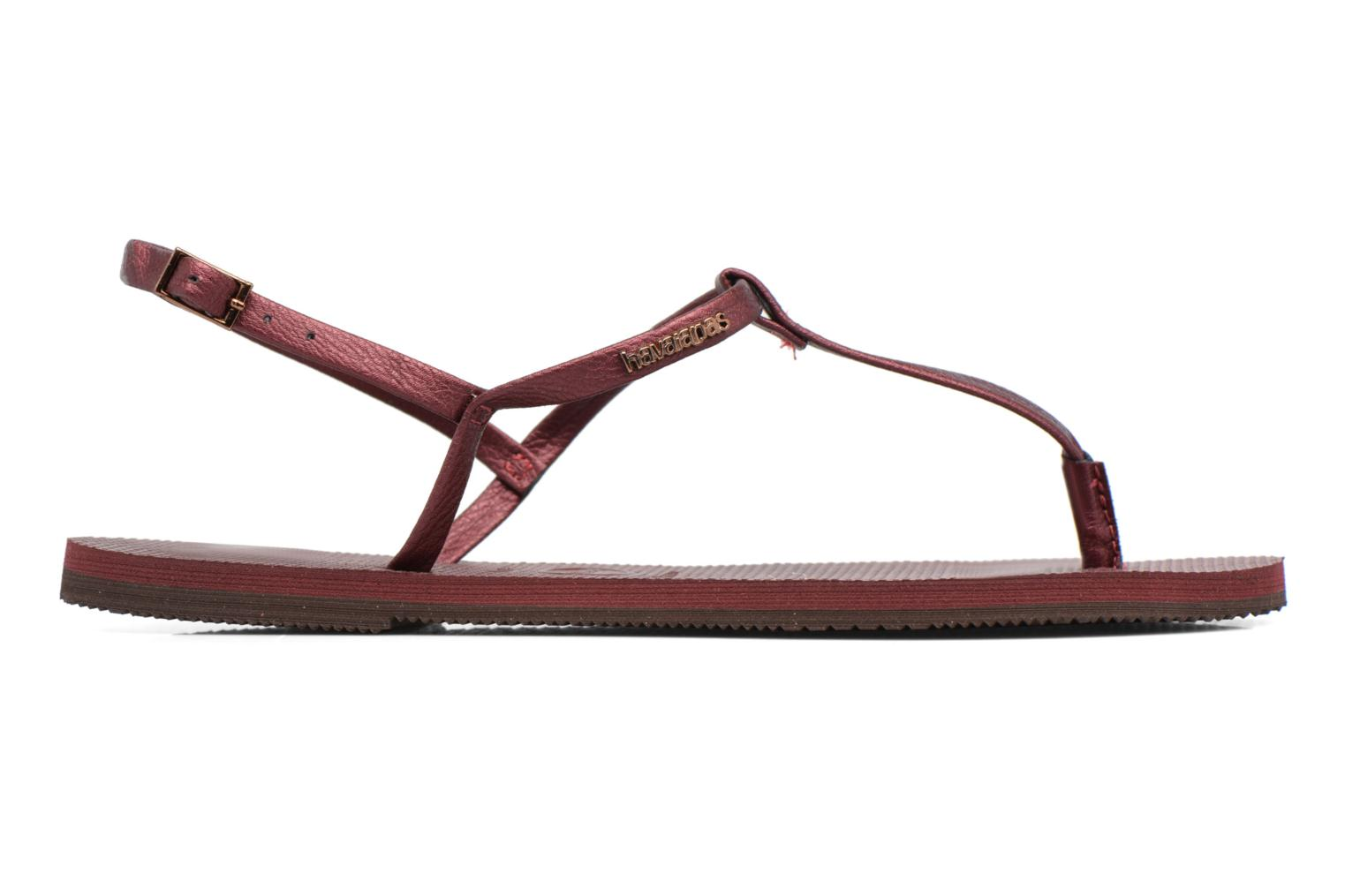 Sandals Havaianas You Riviera Burgundy back view
