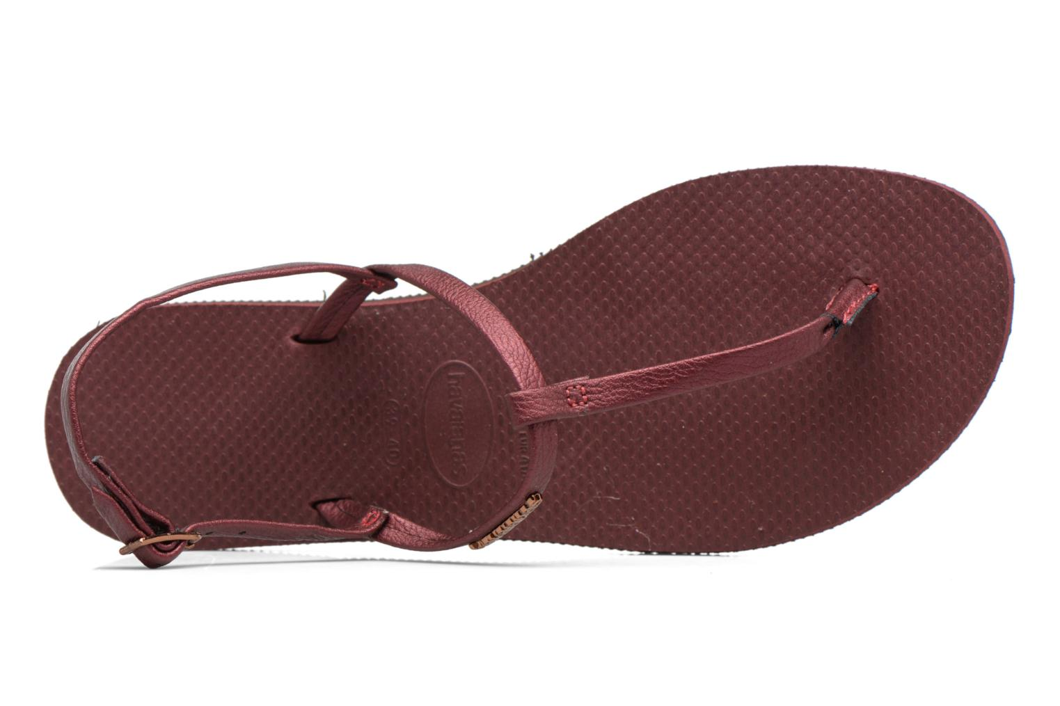 Sandals Havaianas You Riviera Burgundy view from the left