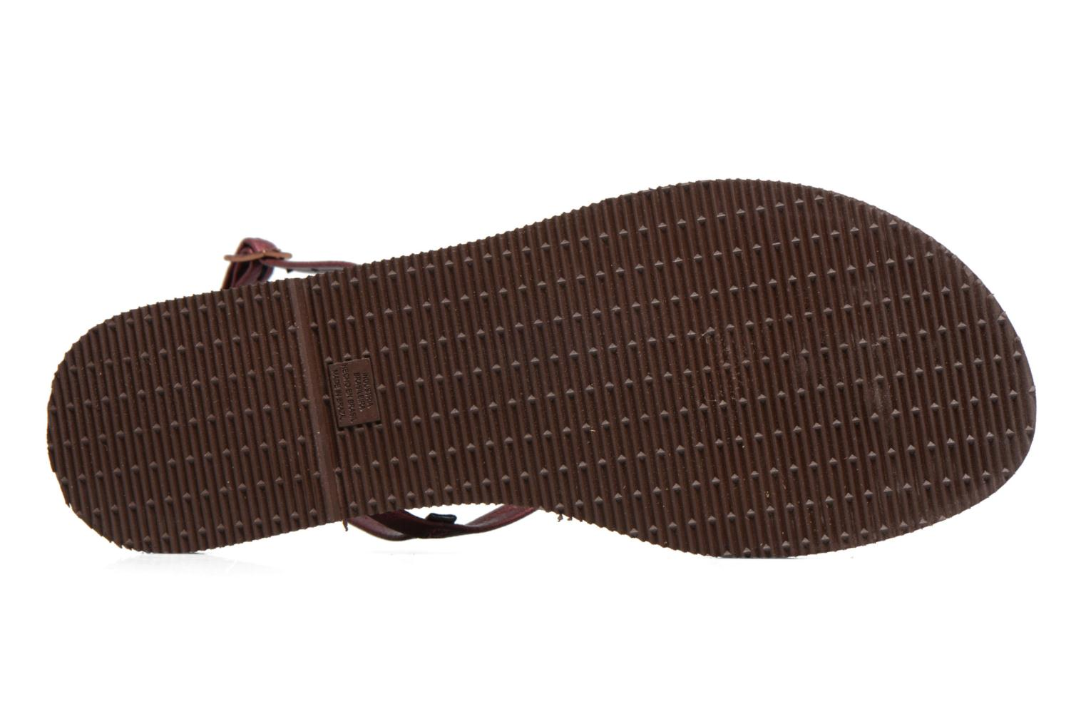 Sandals Havaianas You Riviera Burgundy view from above