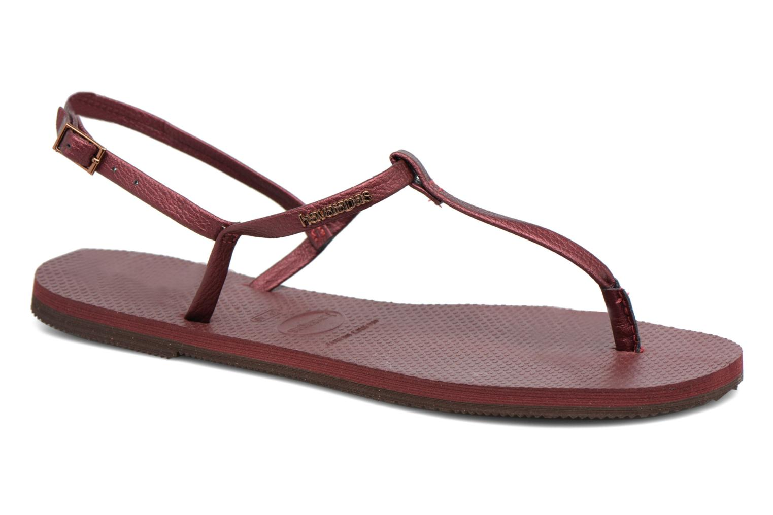 Sandals Havaianas You Riviera Burgundy detailed view/ Pair view