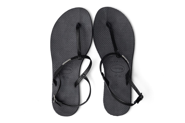Sandals Havaianas You Riviera Black 3/4 view